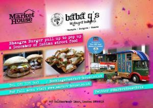 Baba Gupta Bhangra Burger pop-up Market House Brixton